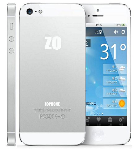 Zophone i5 – iPhone 5 klons ar Android.